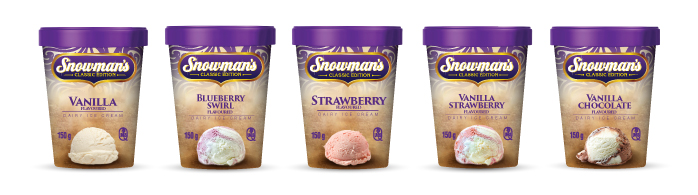 Snowman's classic ice cream