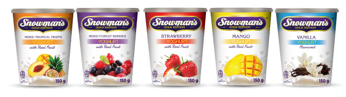 snowmans yoghurt with real fruit
